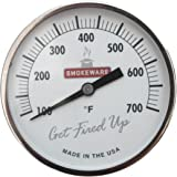SmokeWare Temperature Gauge (White 3-inch Face) for BGE