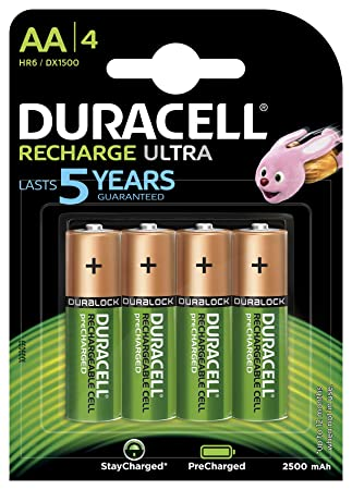 74572d85c42 Duracell Stay Charged Rechargeable 1950 mAh AA Batteries - 4-Pack