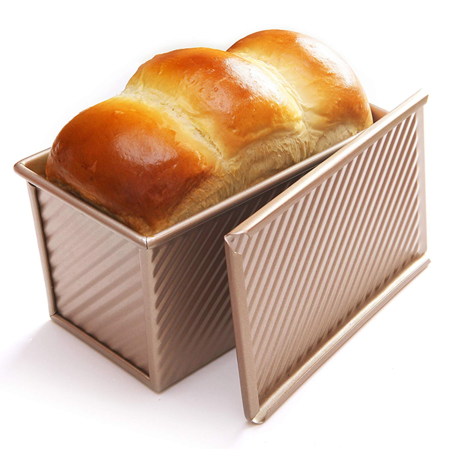 CHEFMADE Loaf Pan with Lid, Non-Stick Bakeware Aluminium Alloy Bread Toast Mold with Cover Bread Pan for Baking Bread Pan Bread Tin for Homemade Cakes, Breads and Meatloaf
