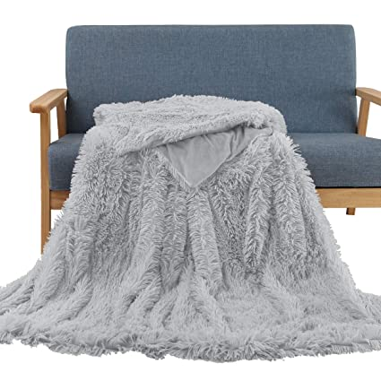 Image Unavailable. Image not available for. Color  Soffte Cloud Super Soft  Long Shaggy Warm Plush Fannel Blanket Throw Qulit Cozy Couch ... c8c622bc4