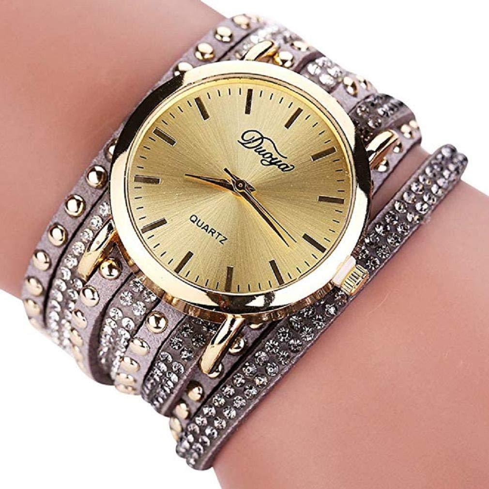 Scpink Nuevo Reloj de Pulsera para Mujer, Tachonado de Moda Reloj de Diamante Completo Dial Grande Aleación Reloj de Cuarzo Simple Relojes de señora Relojes ...
