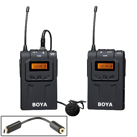 6 opinioni per 48-Channel UHF Microfono portatile senza fili Lavalier Omni-direzionale