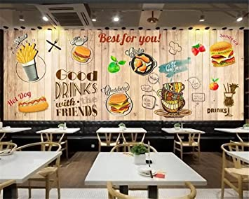 BZDHWWH Modern 3D Wallpaper Large Hd Vintage Plank Western Restaurant Background Wall Home Decor Papel