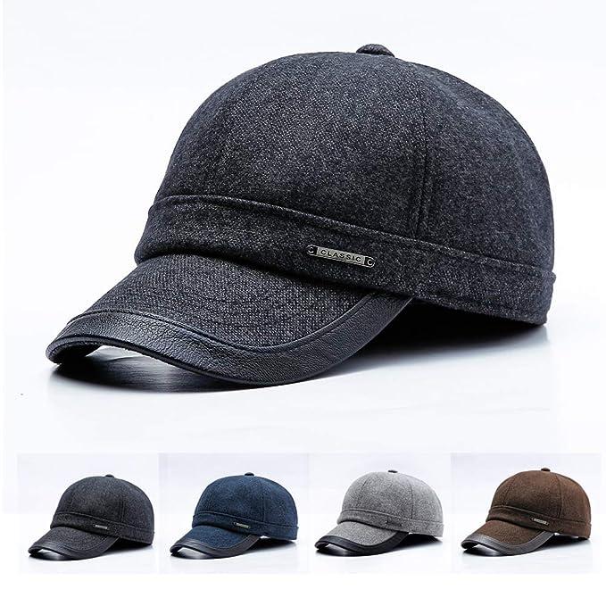 JAMONT Men s Warm Earflap Baseball Cap Polar Fleece Outdoor Hats ... bdd0416f9cd