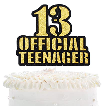 Remarkable Official Teenager 13 Birthday Cake Topper Boys Girls 13Th Personalised Birthday Cards Paralily Jamesorg