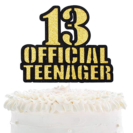 Stupendous Official Teenager 13 Birthday Cake Topper Boys Girls 13Th Funny Birthday Cards Online Inifodamsfinfo