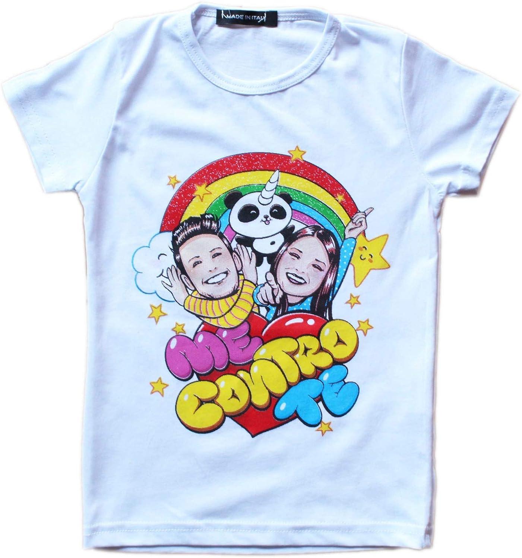 T-Shirt Me Contro Te Replica Bambina e Bambino Unisex Maglietta in Cotone a Maniche Corte con Personaggi del Momento dei Bambini