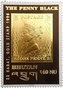 IMPACTO COLECCIONABLES El Primer Sello en Oro de 22 Quilates, emitido en Buthan 1996: Amazon.es: Juguetes y juegos