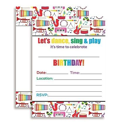 Amazon dance and play musical themed birthday party celebration dance and play musical themed birthday party celebration fill in invitations set of 20 filmwisefo