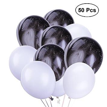 Ballons Dessin Nuolux Ballon Latex Noir Et Blanc Pour Décoration De