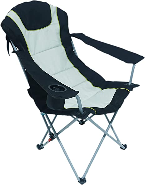 HOMECALL Camping Chair, Foldable, Armrest with Cupholder Outdoor Adjust backrest Chair