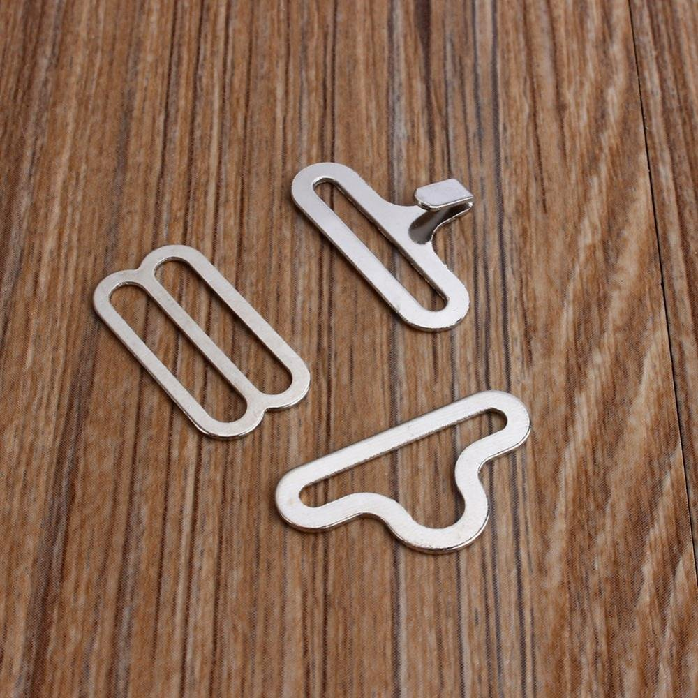 fermacravatta in metallo regolabile per fibbia per cravatta in argento Set di fascette per cravatta in metallo regolabili da 50 pezzi