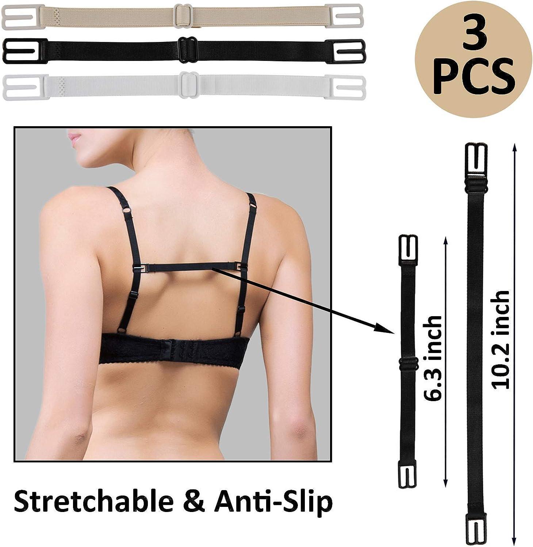 Non-Slip Straps Elastic Adjustable Accessories Set 18Pc Bra Extender 2Hooks 3Hooks 4Hooks /& Bra Strap Holder /& Bra Strap Clip