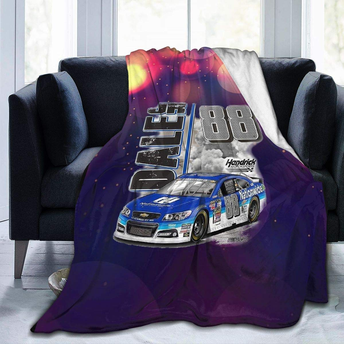 """WangJhjfg Dale Earnhardt Jr Nascar Racing Trend Winter Ultra-Soft Micro Fleece Blanket Printed for Sofa Bed Couch Chair Living Room 60""""x50"""""""