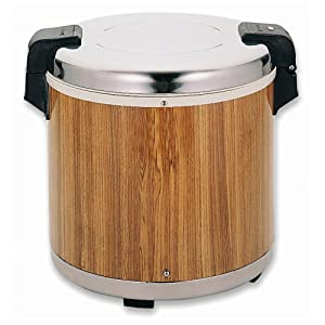 Thunder Group SEJ21000 Wood Grain 50-Cup (Uncooked) 100-Cup (Cooked) Rice Warmer