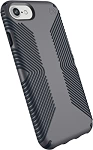 Speck Products Presidio Grip iPhone SE 2020 Case/iPhone 8 (Also Fits 7/6S/6), Graphite Grey/Charcoal Grey