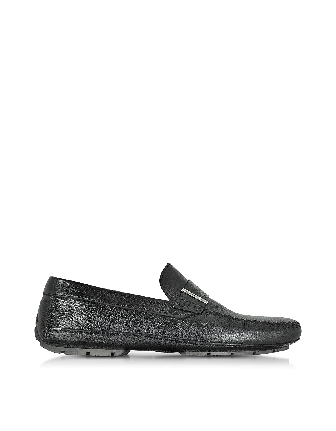 MORESCHI MEN'S 41426SHMIAMIBLACK BLACK LEATHER LOAFERS