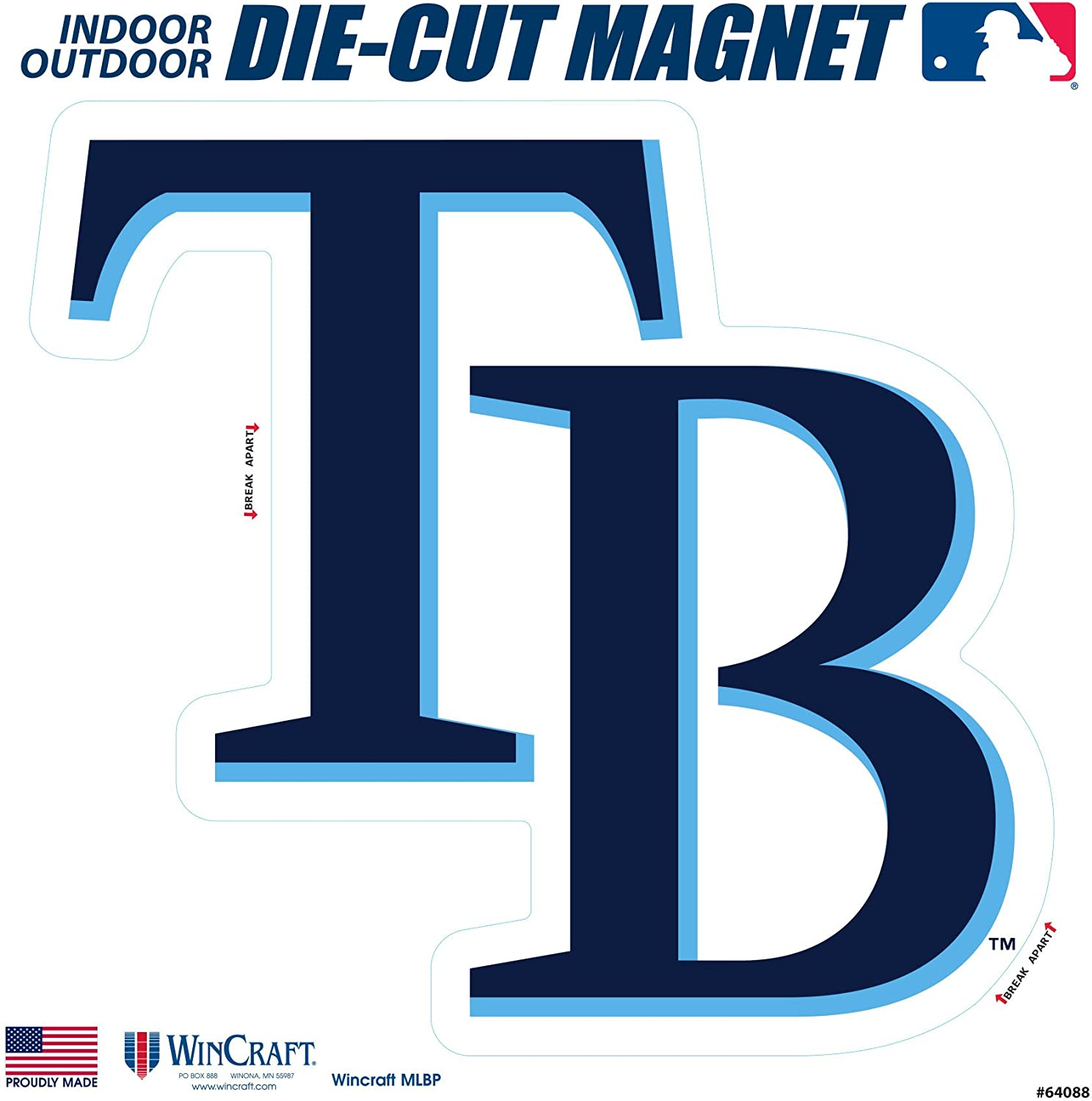 amazon com stockdale tampa bay rays sd 6 logo magnet die cut vinyl auto home heavy duty baseball sports outdoors amazon com