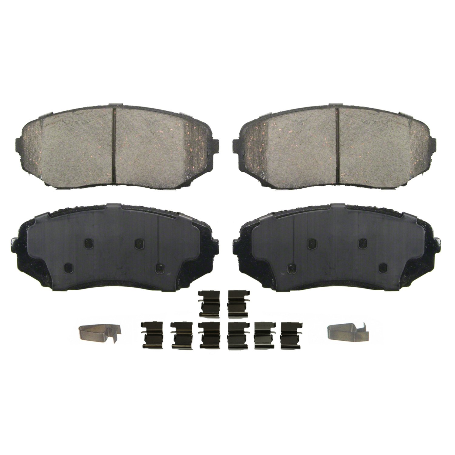 Wagner QuickStop ZD1258 Ceramic Disc Pad Set Includes Pad Installation Hardware, Front Wagner Brake