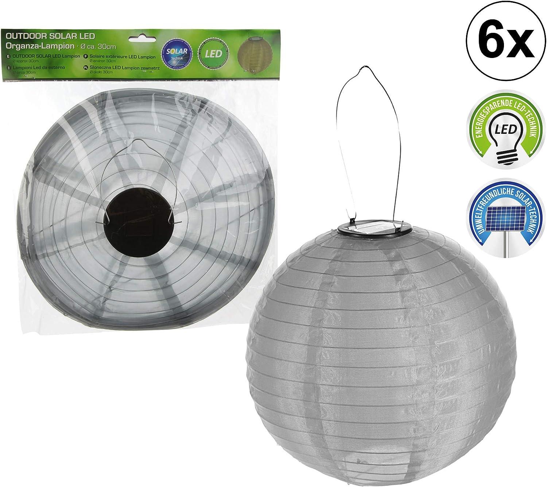6 x LED Lampion 6 x LED Solar Lampion OUTDOOR Gartendekoration Laterne Gartenleuchte Partylicht