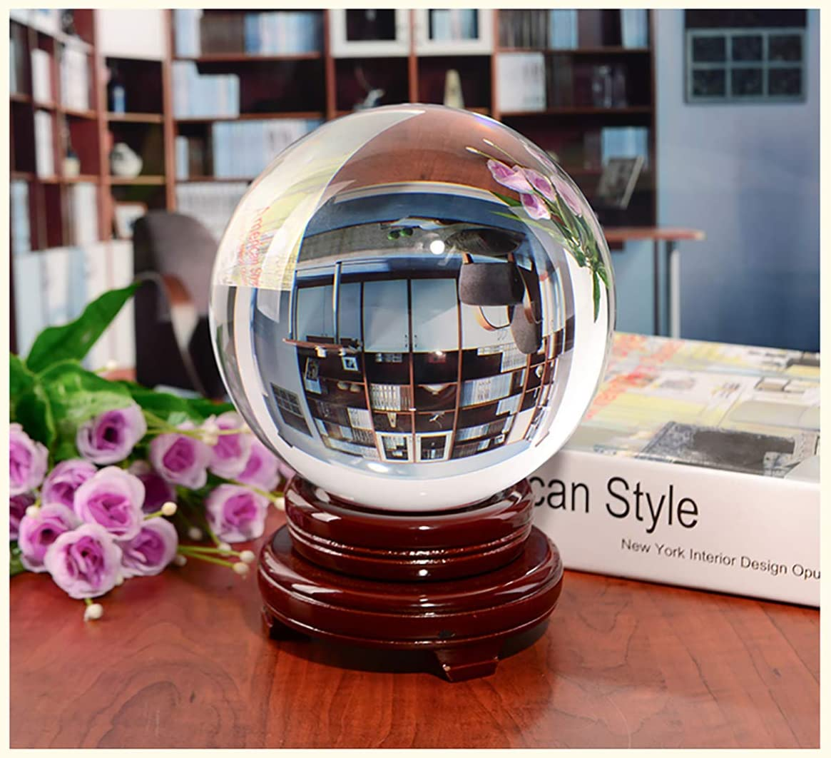 MerryNine MerryNine Photograph Lens Ball with Stand and Pouch 110mm//4.33 with Wooden Stand for Decorative and Photography K9 Photography Crystal Ball