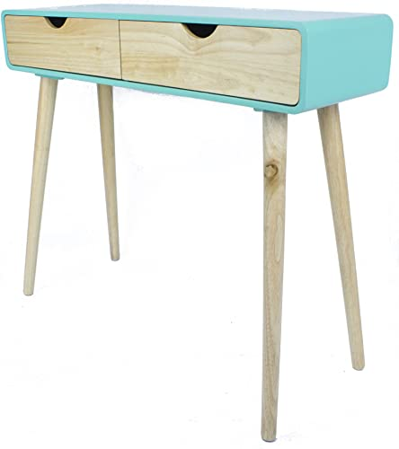 Reviewed: Heather Ann Creations Euro Collection Modern Console Table Writing Desk Aqua