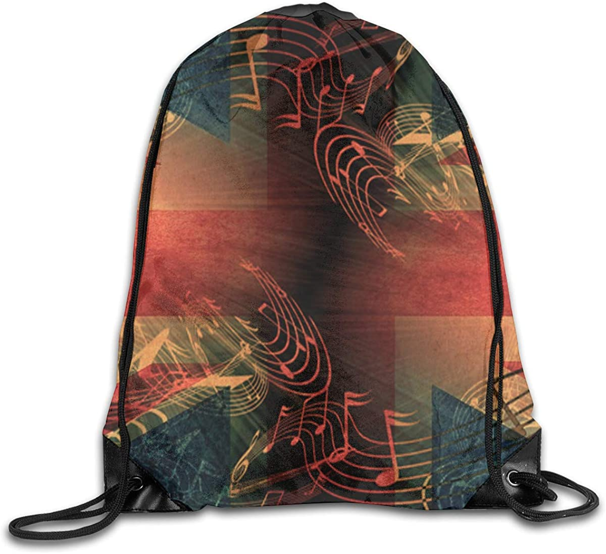UK Flag Beam Mouth Backpack Pull Rope Shoulder Bag Outdoor Sports Leisure Bag
