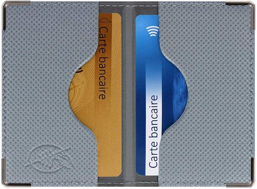 Funda con 2 Tarjetas bancarias blindadas (Anti-RFID) – Fabricación Francesa – Protección de Datos bancarios