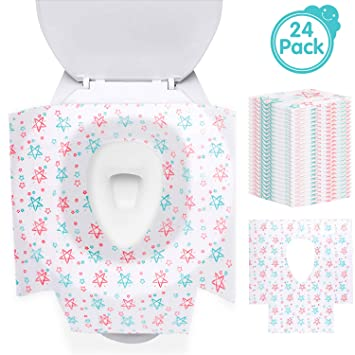 Marvelous Disposable Toilet Seat Covers 24 Pack Potty Seat Covers Extra Large Waterproof Individually Alphanode Cool Chair Designs And Ideas Alphanodeonline