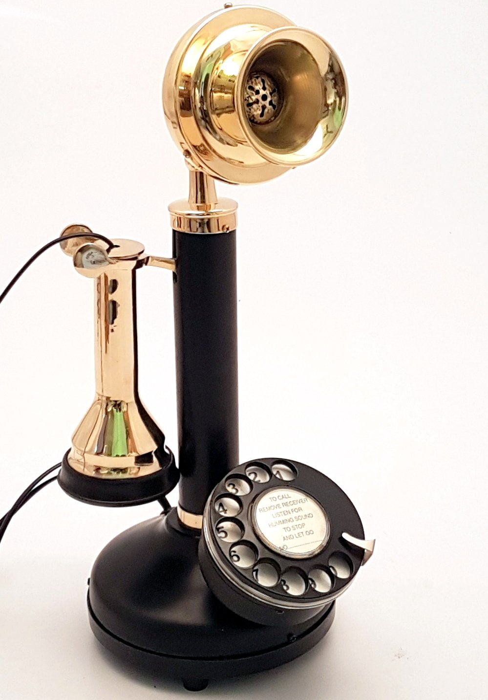 Home Decore Antique Style Rotery Dial Candlestick Telephone in Working Order.