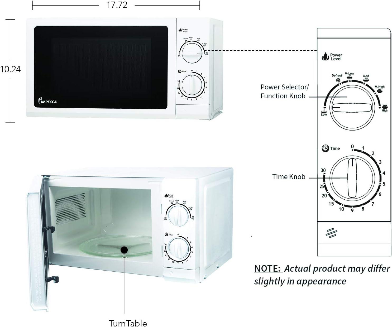 Amazon.com: Horno de microondas de 0,7 pies cúbicos, Blanco ...