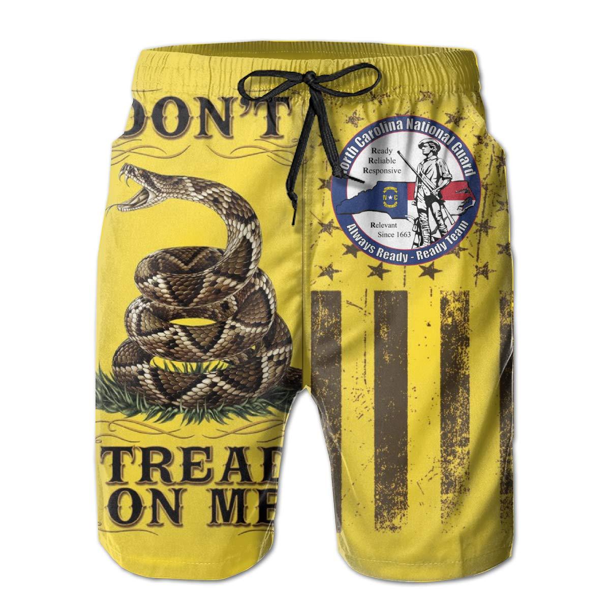Swimsuit Athletic Shorts Dont Tread On Me Flag North Carolina Army National Guard Mens Beach Shorts Swim Trunks
