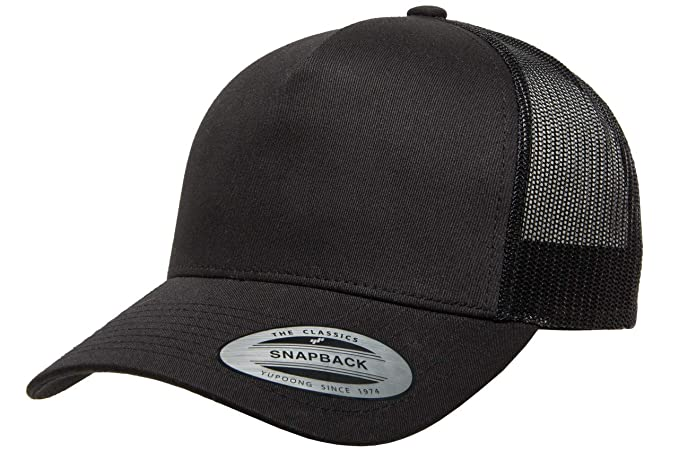 size 40 74a1a c15ee Flexfit Yupoong 5 Panel Retro Yupoong Trucker Hat   Mesh Back, Adjustable Snapback  Cap