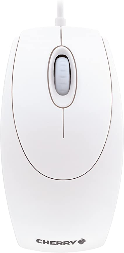 Cherry Wheel Mouse Optical Usb 1000 Dpi White Grey Computer Zubehör