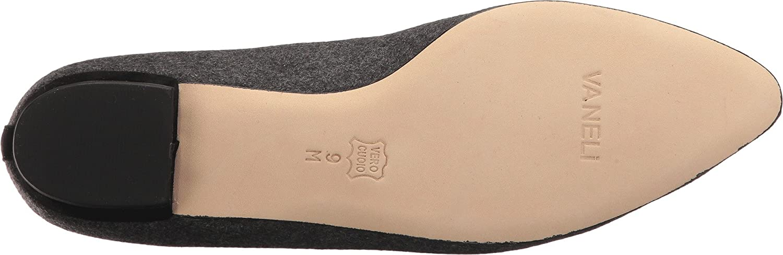 VANELi Womens ganet Closed Toe Mules B01NCQB29P 8 W US|Dark Grey Flannel/Black Suede
