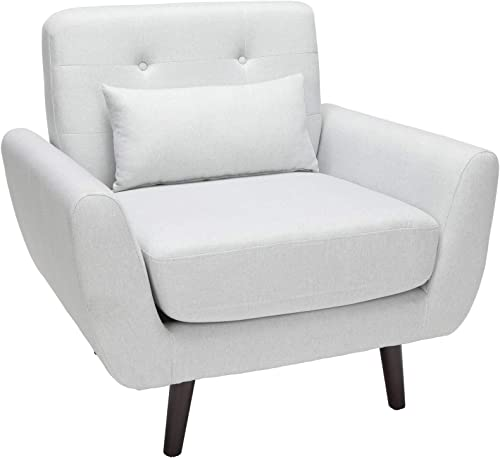 OFM 161 Collection Mid Century Modern Tufted Fabric Accent Chair