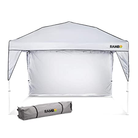 Pop Up Canopy and Shade Tent Heavy Duty Outdoor Canopy for Camping, Tailgating, Parties and Beach – Waterproof and Flame Resistant Polyester Material with Ventilation and Sun Wall – 10 x 10