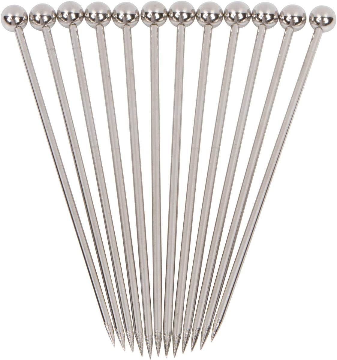 "Stainless Steel Cocktail Picks - 4"" (12pc Set) 71oUZATBopL"
