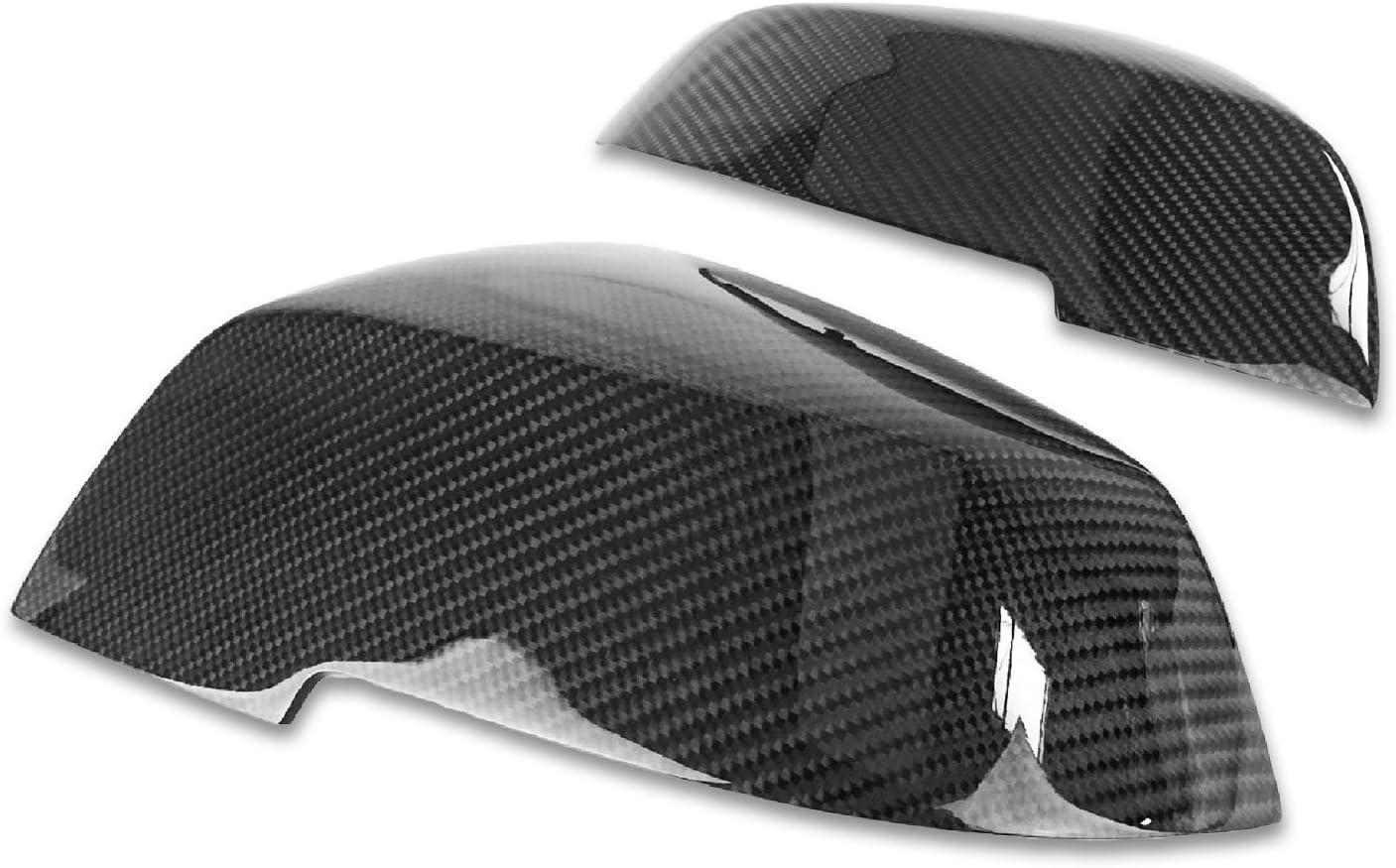 2Pcs Carbon Fiber M Style Mirror Cover Cap Fr BMW F20 F30 F35 F36 1 2 3 4 Series