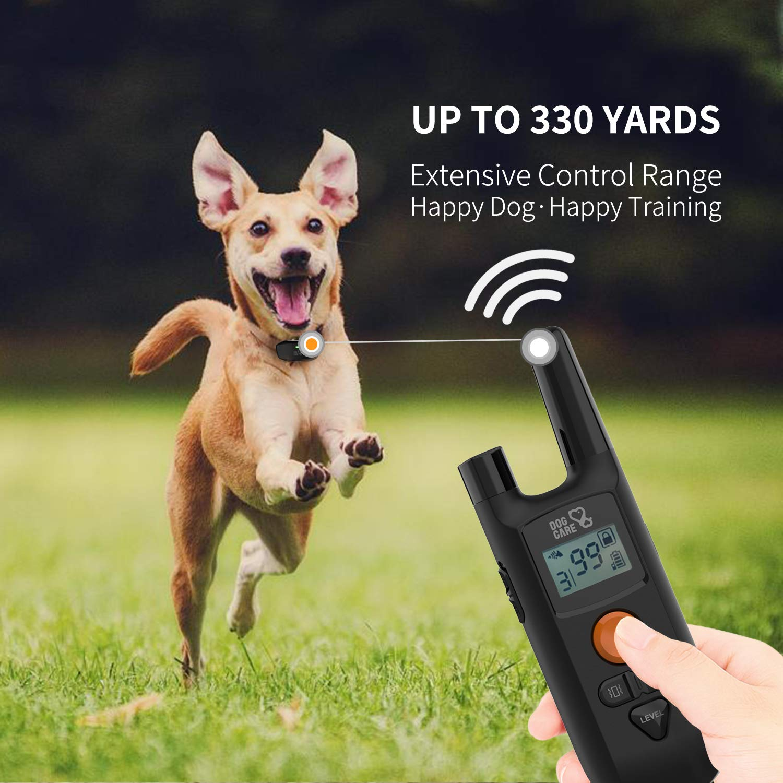 Dog Training Collar - Enhanced Rechargeable Dog Shock Collar w/3 Training Modes, Beep, Vibration and Shock, Waterproof Training Collar, Up to 1000Ft Remote Range, 0~99 Shock Levels Dog Training Set