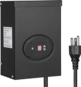 DEWENWILS 200W Outdoor Low Voltage Transformer with Timer and Photocell Sensor, 120V AC to 12V AC, Weatherproof, for Halogen & LED Landscape Lighting, Spotlight, Pathway Light, ETL Listed