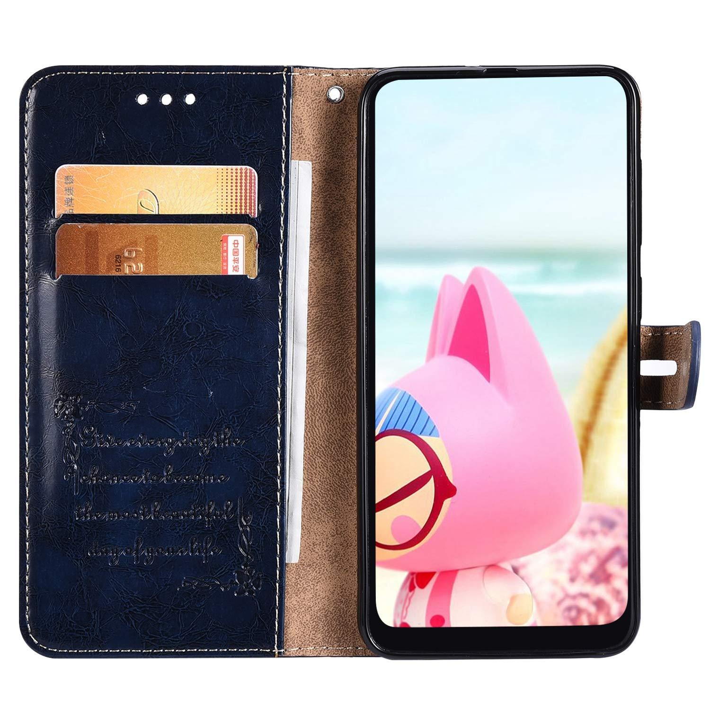 Custodia Compatibile con Huawei P8 Lite 2017,Pelle Flip Antiurto Libro Cover Uomini Donne Portafoglio PU Leather Wallet Carte Funzione Supporto Magnetico Protettiva Cera Dolio Bumper Case,Nero