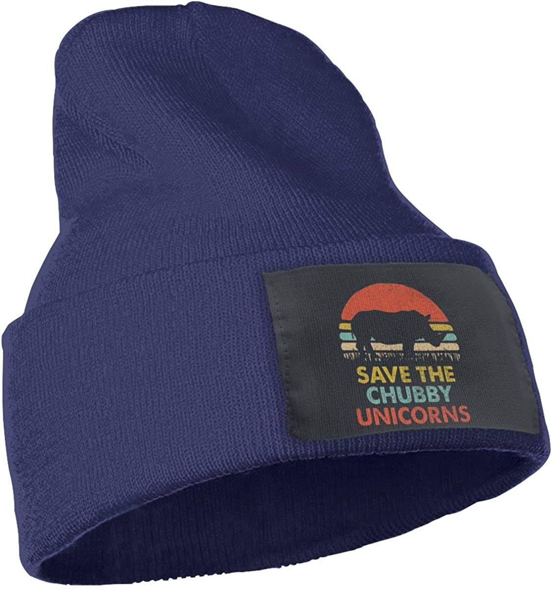 Save The Chubby Unicorn 7 Beanies Hats Wool Knit Cap for Woman Man