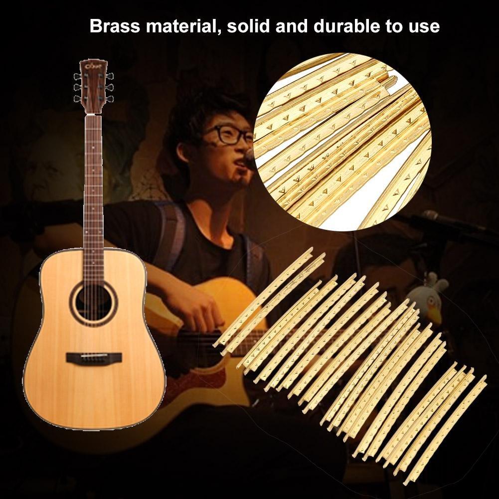 20Pcs Brass Guitar Fret 2.0mm Fret Wire Set for Folk Wooden Guitars Accessory Guitar Fretwire