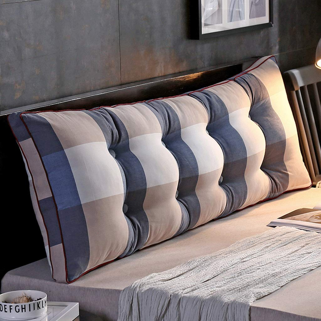 RXF Washed Cotton Bed Head Cushion Removable and Washable Bed Pillow Sofa Pillow (Color : 3, Size : 35.43in)