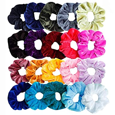 36 Pcs Hair Scrunchies Velvet Elastic Hair Bands Scrunchy Hair Ties Ropes Scrunchie For Women Or Girls Hair Accessories Assorted Colors Scrunchies (20 Pc) by Diadia