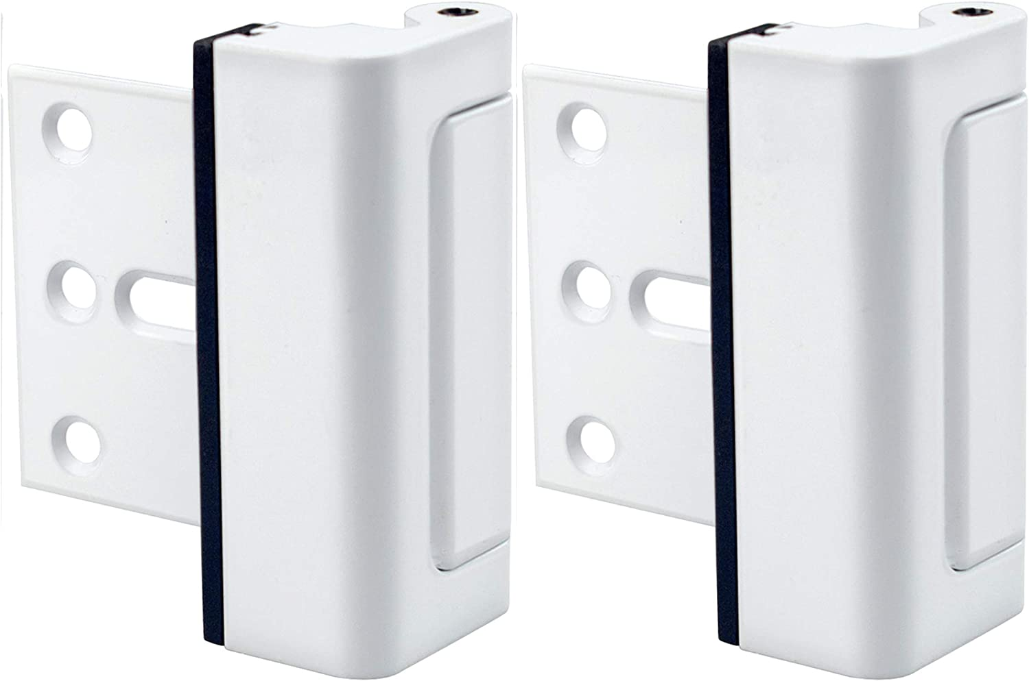 Door Lock for Home Security (2-Pack) - Easy to Install Door Latch Device, Aluminum Construction, for Door Security | Child Proof & Tamper Resistant, White Door Locks