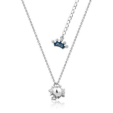 e61e109da Disney Couture Beauty & the Beast White Gold-Plated Mrs Potts Tea Pot  Necklace: Amazon.co.uk: Jewellery