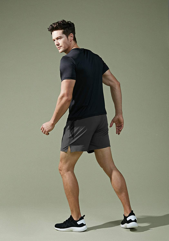 TSLA Mens Active Running Shorts Quick Dry Gym Athletic Shorts with Pockets Training Exercise Workout Shorts