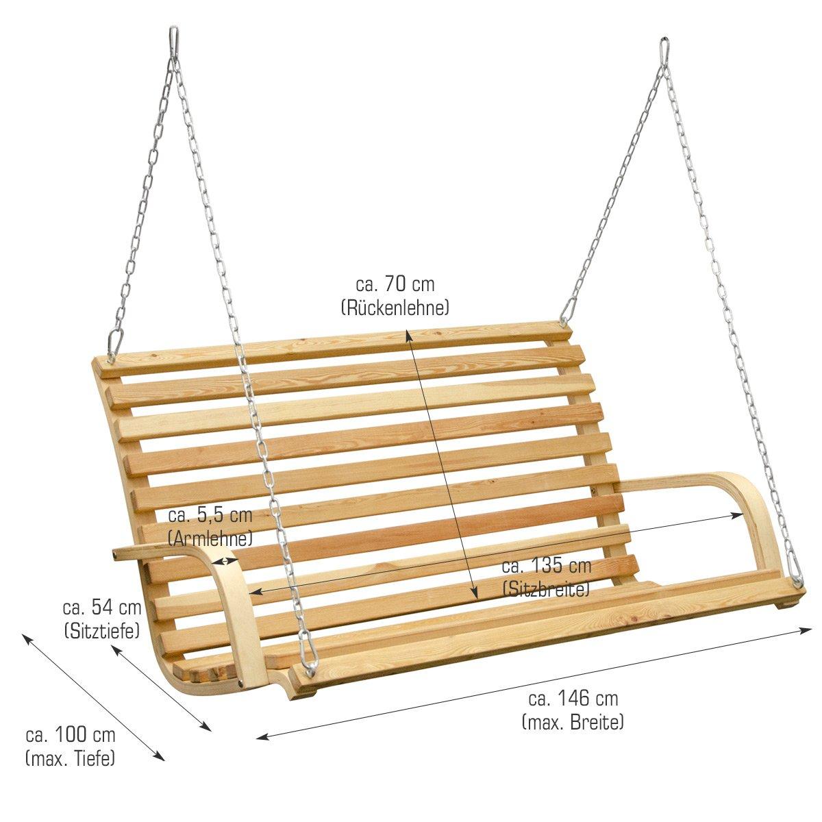 Hollywoodschaukel selber bauen  Amazon.de: Hollywoodschaukel aus Holz Lärche | Gartenschaukel Set ...